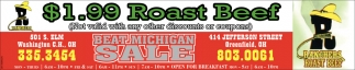$1.99 Roast Beef