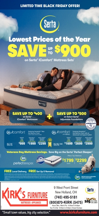Serta Save up to $900