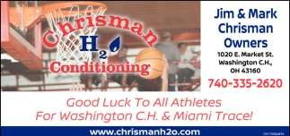 Good Luck to All Athletes