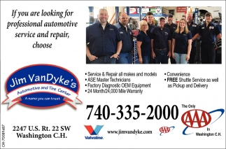 Professional automotive service and repair