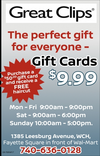 Gift Cards $9.99