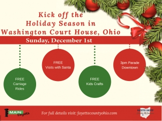 Kick off the Holiday Season in Washington Court House, Ohio
