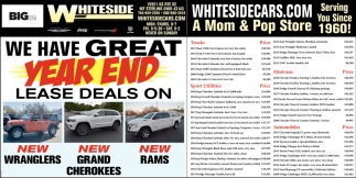 We have great year end lease deals