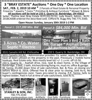 3 Bray Estate Auctions
