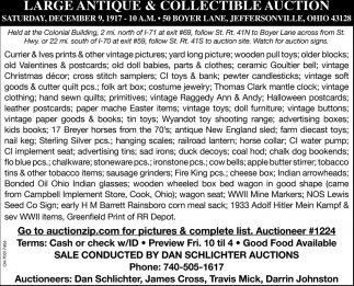 Large Antique & Collectibles Auction