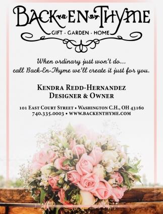 Kendra Redd-Hernandez Designer & Owner