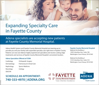 Expanding Specialty Care