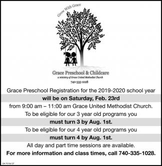 Grace Preschool Registration