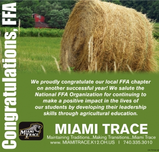 Congratulations, FFA Chapter