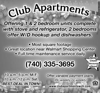 1 & 2 bedroom units