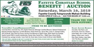 Benefit Auction - March 16