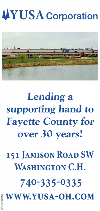 Lending a supporting hand to Fayette County for over 30 years!