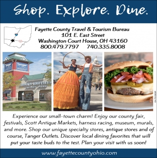 Experience our small-town charm!