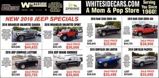 New 2018 Jeep Specials