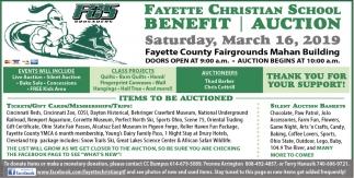 Benefit Auction - March 16