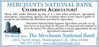 Celebrates Agriculture!