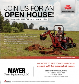 Join us for an Open house