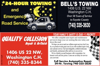 24 - Hour Towing and Emergency Road Service