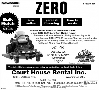 Test drive this legendary mower today by contacting your local dealer below
