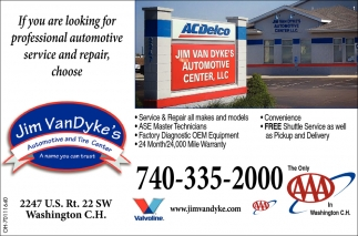 If you are looking for professional automotive service and repair choose