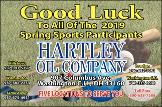 Good Luck To All Of The 2019 Spring Sports Participants