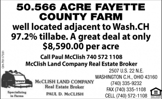 50.566 Acre Fayette Country Farm