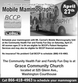 Breast and Cervical Cancer Project - Mobile Mammography