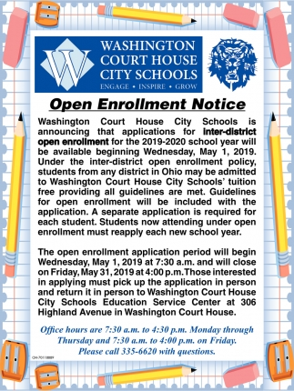 Open Enrollment Notice