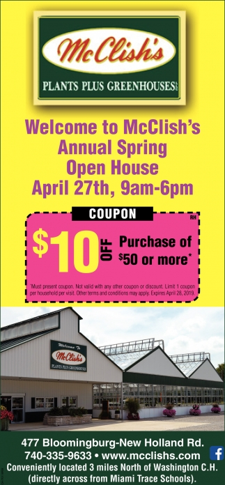 Annual Spring Open House April 27th