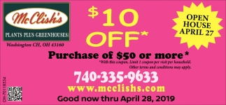 $10 Off - Purchase of $50 or more