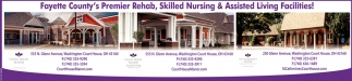 Fayette County's Premier Rehab, Skilled Nursing & Assisted Living Facilities!
