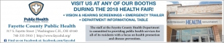 Visit us at any of your booths during the 2018 health fair!