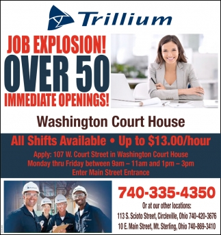 Job Explosion! Over 50 inmediate openings!