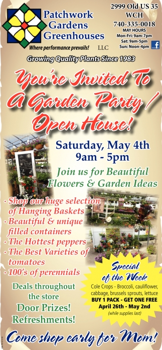 Garden Party - Open House