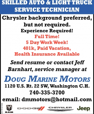 Skilled Auto & Light Truck Service Technician