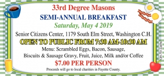 Semi - Annual Breakfast, 33rd Degree Masons, Washington