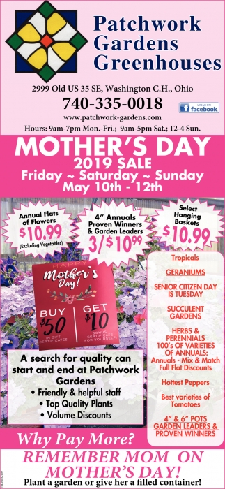 Mother's Day - 2019 Sale