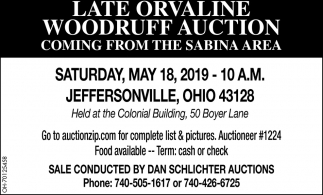 Late Orvaline Woodruff Auction
