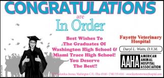Congratulations are in Order