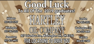 Good Luck To All Of The 2019 Graduates!