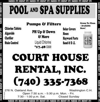Pool and Spa Supplies
