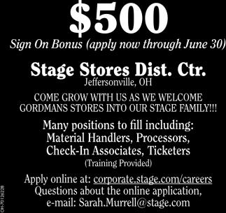 $500 Sign On Bonus - Apply now through June 30