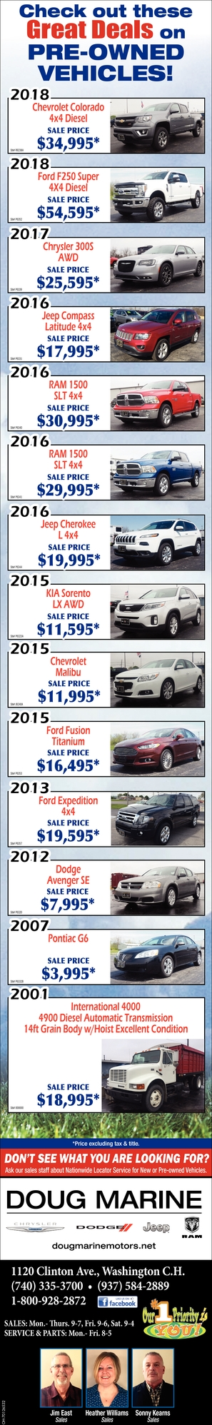 Check out these Great Deals on Pre-Owned Vehicles!
