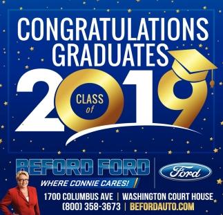 Congratulations Graduates 2019