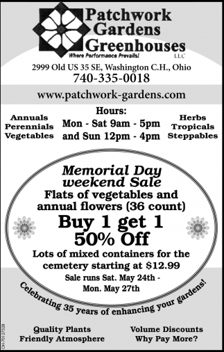emorial Day Weekend Sale