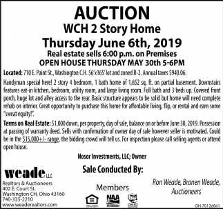 Auction June 6th