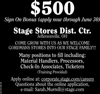 $500 Sign On Bonus - Apply now through June 30