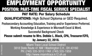 Fiscal Service Specialist