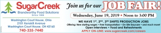 Join us for our Job Fair!