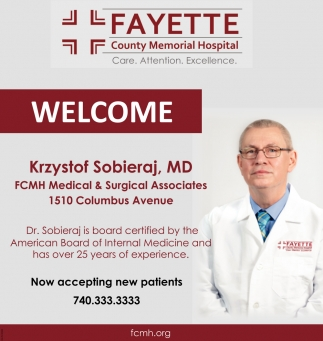Welcome Krzystof Sobieraj, MD - Internal Medicine